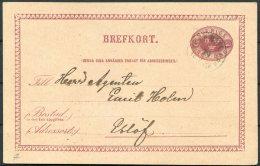 1883 Sweden Stationery Postcard PKXP Railway TPO - Sweden