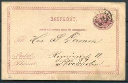 1887 Sweden Stationery Postcard Brefkort - Sweden