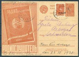 1930 Russia Illustrated Stationery Postcard - Sweden. - Brieven En Documenten