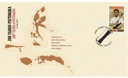 INDONESIA 2017-4 INDONESIAN HERO PATTIMURA CELEBES MAPS FDC STAMPS MNH - Indonésie