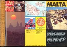 Dépliant Touristique MALTA MALTE  Air Malta C.1970 - Tourism Brochures