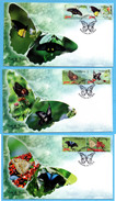 INDONESIA 2016 FLORA FAUNA BUTTERFLY FLOWERS SET 3 FDC STAMPS MNH - Indonésie