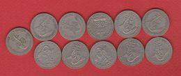 Afrique De L'Ouest / Lot De 11 Monnaies / 50 Francs Années Différentes - Monnaies