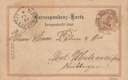 Czech Republic Vorläufer (Austria) Postal Stationery Ganzsache Entier MÄHR. OSTRAU 1893 METZENSEIFEN Ungarn (2 Scans) - Ganzsachen