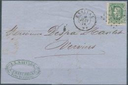 N° 30 Sur Superbe Lettre De 'Ensival', Obl 'LP112' Du 9 Juin 1871 - 1869-1883 Leopold II