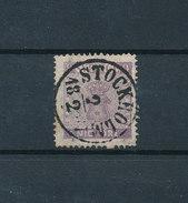 SUEDE 1852/70 - 9 Ore Violet-brun Yvert N°7 Oblitéré Cote 275€ - Oblitérés