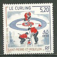 SAINT PIERRE ET MIQUELON MNH ** 670 Jeux Olympiques Japon Le Curling Sport - St.Pierre & Miquelon