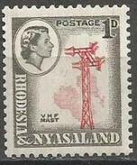 Rhodesia & Nyasaland - 1959 VHF Mast 1d (perf Variety) MNH **   SG 19a - Rhodesia & Nyasaland (1954-1963)