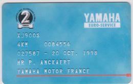 Télécarte -carte : Yamaha - Moto - Frankreich
