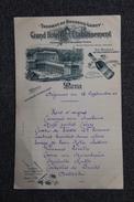 BOURBON LANCY, Menu Du Grand Hotel De L'Etablissement Daté Du 13 Septembre 1904 - Menus
