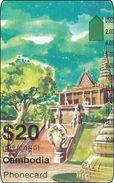 Cambodia Phonecard  Tempel Building - Kambodscha