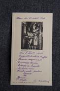 Menu Servi, Le 31 AOUT 1913 - Menus