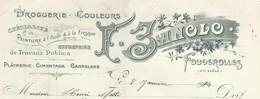 1914 Droguerie Couleurs F. JANOLO Fougerolles Haute-Saône/ Peinture à L'huile & à La Fresque/ Travaux Publics Bâtiment - Droguerie & Parfumerie