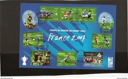 France Bloc Feuillet Oblitéré N° 110 Rugby 2007 ,oblitéré Dans La Periode D'oblitération - Oblitérés