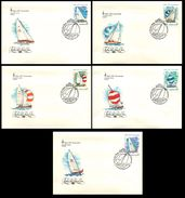 FDCs. USSR 1978 SK№4831-4835 (4898-4902) OLYMPIC GAMES MOSCOW-80 - FDC