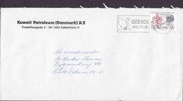 Denmark KUWAIT PETROLEUM (Danmark) Slogan Flamme 'Aarets By & Bird Vogel Oiseau' ODENSE 1985 Cover Brief Kanute The Holy - Briefe U. Dokumente