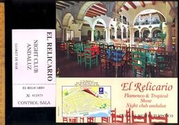 Dépliant Touristique LLORET DE MAR EL RELICARIO C/ Na Marina 1 Flamenco Show + Billet Entrée Entrance Ticket - Dépliants Touristiques