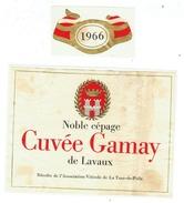 Rare // Cuvée Gamay De Lavaux 1966, Association Viticole De La Tour-de-Peilz, Vaud // Suisse - Etiquettes