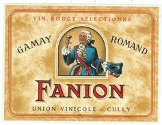 Rare // Gamay Romand, Fanion, Union Vinicole De Cully, Vaud // Suisse - Etiquettes