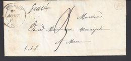 FR - 1847 - Lettre De La Chassagne Pour Macon - Taxe Manuscrite 3 - Cachet F Dans Un Cercle - TB - - Marcophilie (Lettres)