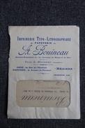Timbre Sur Enveloppe Publicitaire Avec Lettre - BEZIERS,  Imprimerie , Papeterie A.BOUINEAU - Imprenta & Papelería