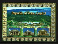 Palau 2010 Sc # Bf 1009  MNH **  Republic Of Palau Capitol - Houses Of Government - Palau