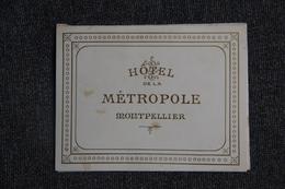 MONTPELLIER -MENU De L'Hotel Métropole Du 19 Février 1905. - Menus