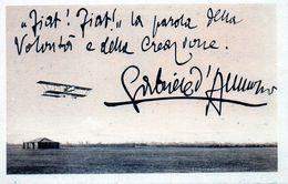 FIAT........GABRIELE D'ANNUNZIO - NON VIAGGIATA - Advertising