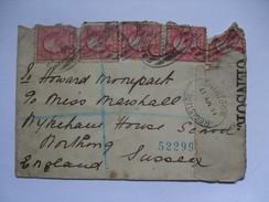 USA - 1917 WW1 Censor Registered Cover - New York  To Worthing England - Briefe U. Dokumente