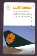 Télécarte  JAPON * LUFTHANSA   (2265) * Phonecard JAPAN * Airplane * Flugzeug AVION * AIRLINES * - Avions
