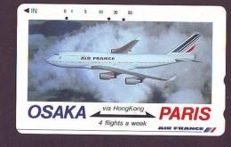 Télécarte  JAPON * AIR FRANCE * OSAKA - PARIS   (2268) * Phonecard JAPAN * Airplane * Flugzeug AVION * AIRLINES * - Airplanes