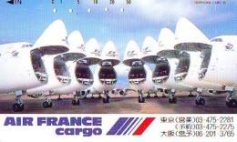 Télécarte  JAPON * 110-83703 * AIR FRANCE * CARGO  (2270) * Phonecard JAPAN * Airplane * Flugzeug AVION * AIRLINES * - Airplanes