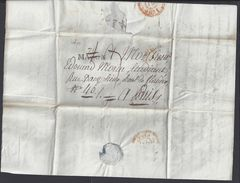 FR - Pli De Macon Du 13 Juin 1821  - Taxe 7 Décimes Avec Griffe Noir 70 MACON Pour Paris - B/TB - - Marcophilie (Lettres)
