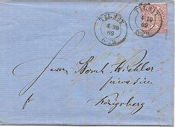 1869 - SOWETSK /Tilsit) Oblast Kaliningrad, 3 Scan, Brief Mit Inhalt - 1857-1916 Imperium