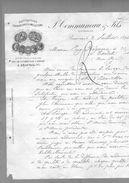 Courrier Illustré Manufacture Couvertures & Molletons Communeau & Fils Anc. Driard Bolle Letellier Beauvais 2-07-1894 - 1800 – 1899