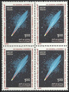 Halleys Comet BLOCK Of Four IAU Astronomical Union 1985 Astronomy Astronomie Der Weltraum Sonne Soleil Halley's Space - Astronomy