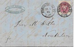 1867 - Konigsberg. Kaliningrad, 3 Scan, Brief Mit Inhalt - 1857-1916 Imperium