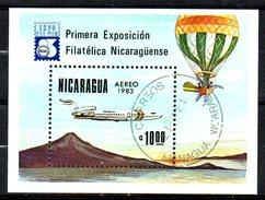 NICARAGUA. BF 159 De 1983 Oblitéré. Avion De Ligne. - Avions