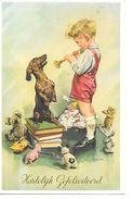 Teddy Bear,Teddybär, Ours En Peluche, Boy, Garçon, Dachshund, Teckel, Dackel, Toys, Jouets - Fantaisies