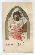 De Biecht. La Confession. Enfant, Prêtre, Anges. Signé Gouppy - Devotieprenten