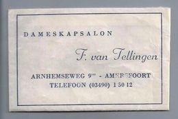Suikerzakje.- Amersfoort. - DAMESKAPSALON - F. Van Tellingen, ARNHEMSEWEG 9  2 Scans. - Zucker