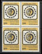 World Mining Congress 1984 Indien Inde BLOCK Miners Mines Geology Gems Geologie La Mine Die Mine - Geology
