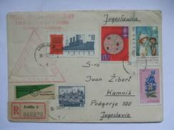 POLAND - 1963 Registered Lublin Cover To Kamnik Yugoslavia Additional Ljubljana Postmark `Polski Zwiazek Filatelistow` - 1944-.... Republic