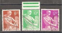 FRANCE - 1957 . Y&T N° 1015 à 1016 Oblitérés - 1957-59 Moissonneuse