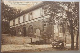 90 CPA BELFORT PLACE DU COLLEGE ECOLE D'APPLICATION 1914 CIRCULEE - Belfort - Ville