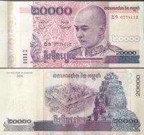 Cambodia Cambodge 20000 Riels UNC Banknote 2008 - P#60 - Cambodia