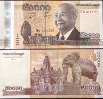 Cambodia Cambodge 50000 Riels UNC Banknote 2013 - Cambodia