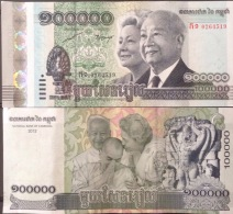 Cambodia Cambodge Kampuchea 100000 Riels UNC Banknotes 2012 - Pick#62 / 02 Images - Cambodia