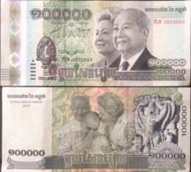 Cambodia Cambodge Kampuchea 100000 Riels UNC Banknotes 2012 - Pick#62 / 02 Images - Cambodge