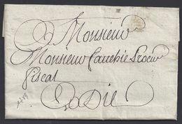 FR - Lettre De Grenoble Du 23 Janvier 1789 En Port Payé Pour Die - TB - - 1701-1800: Vorläufer XVIII